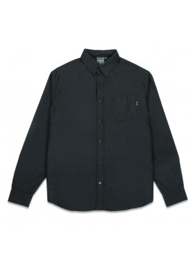 Oxford Cloth Button Up Black