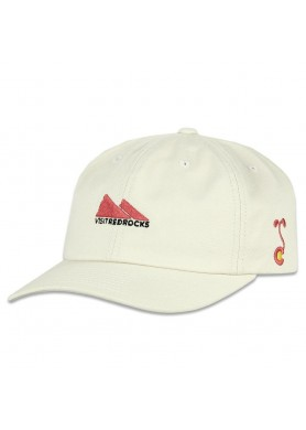 visit red rocks cream dad hat