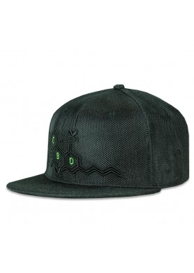cbd bee all black fitted hat
