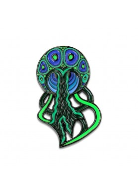 phil lewis green jellyfish pin