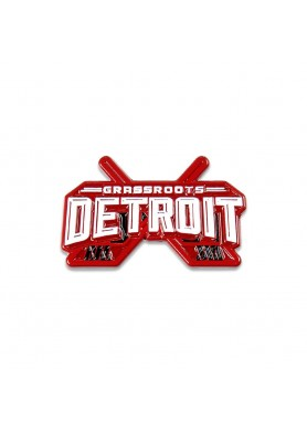 Grassroots Detroit Red Pin