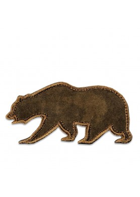 Brown Suede Removable Bear...