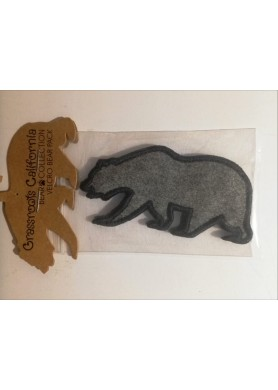 Gray Removable Bear Patch