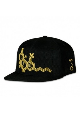 CBD Bee Black Gold Fitted Hat