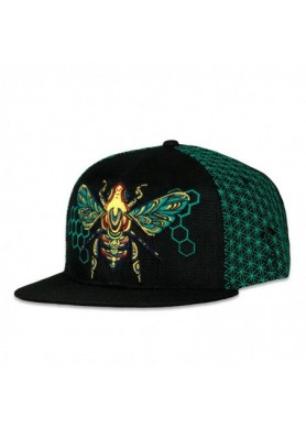 Honey Fund Bee Teal Fitted Hat